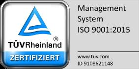 TÜV Rheinland - Zertifikat DIN EN ISO 9001:2015